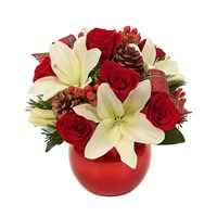 Holiday celebration ornament flower bouquet (BF434-11KL)